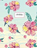 Journal (Diary, Notebook): Floral Pink & blue, XL 8.5 x 11, lined (Cute Journals For Women And Girls)