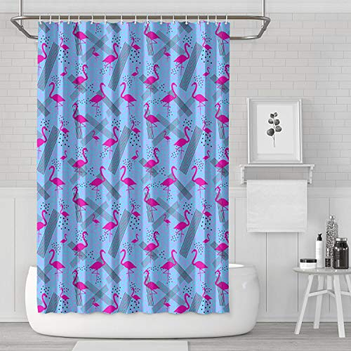 LHSCVUFASC Colorful Pink Flamingo in Memphis Style 72