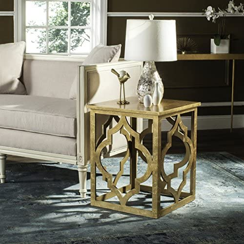 Safavieh American Homes Collection Milo Silver Leaf Trellis End Table