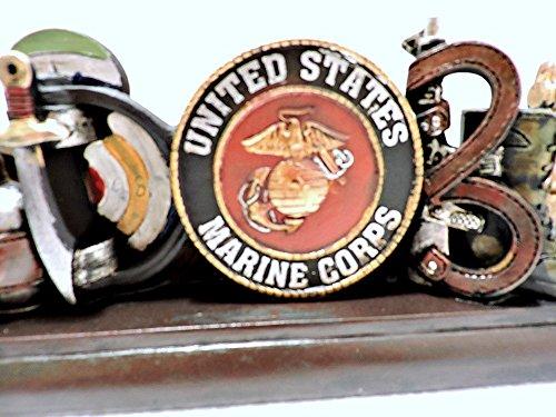 US Marine God Bless Military Veteran 3D Desktop 11 3/4x4 Inches