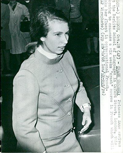 Vintage photo of Portrait Princess Anne Elizabeth Alice Louise at Berlitz School on Oxford Street.
