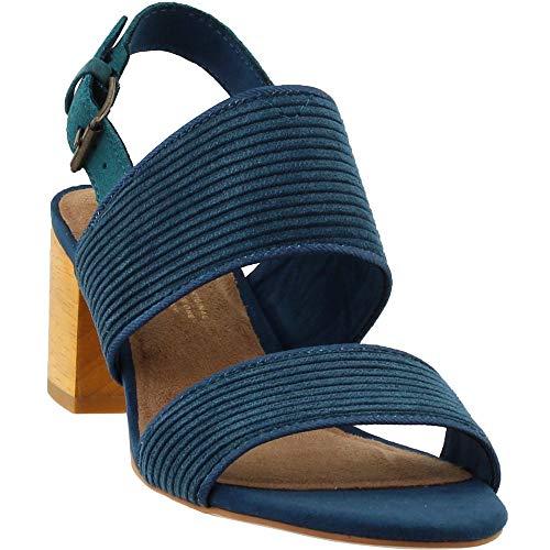 TOMS Women's Poppy Polyester Sandal Atlantic Corduroy (8.5 B US)