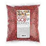RealFoodSource Goji Berries 1kg Free From Preservatives & Sulphites