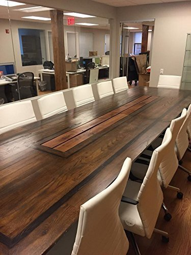 Washington New Yorker our Handmade Work, Contemporary Conference or Dining Table made from Reclaimed Wood (Oak Conference Table compare prices)
