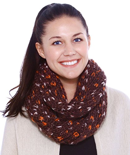 Simplicity Winter Infinity Loop Multicolor Circle Cable Knit Cowl Scarf