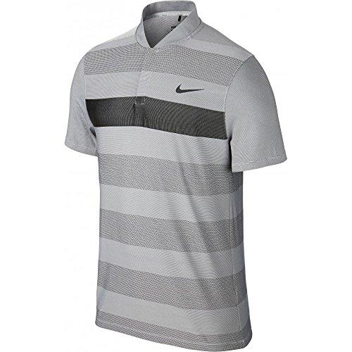 NIKE Golf 'Momentum Fly Swing' Men's Polo Shirt Golf (Large, Light Gray)