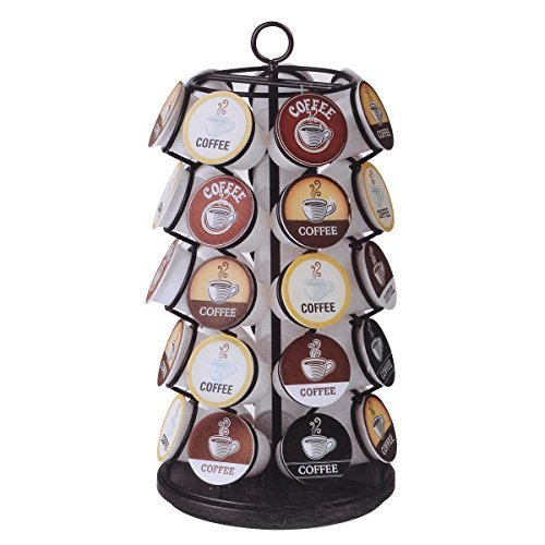 35 K-cups Pods Carousel Storage Coffee Holder Rack Organizer K Cups Cup by Coffee Pod Holders