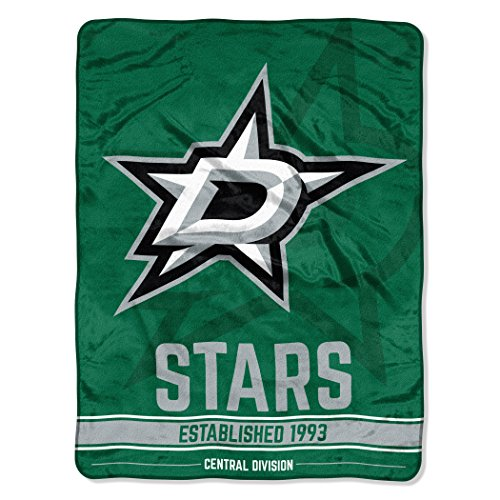 The Northwest Company Officially Licensed NHL Dallas Stars Break Away Micro Raschel Throw Blanket, 46