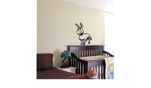 Amazon.com: Vinyl Decal Mural Sticker Shrek Donkey Kids Baby Room Nursery 23: Home & Kitchen