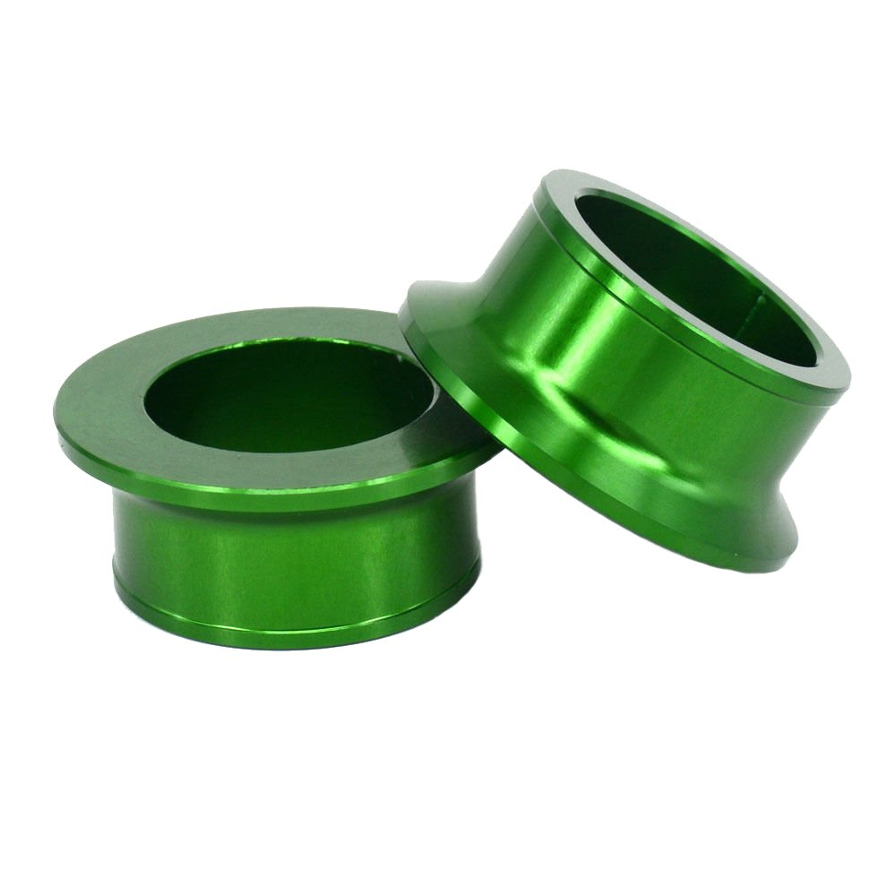 Green CNC Front And Rear Wheel Hub Spacer For Kawasaki KX125 KX250 KXF250 KXF450 JHMOTO
