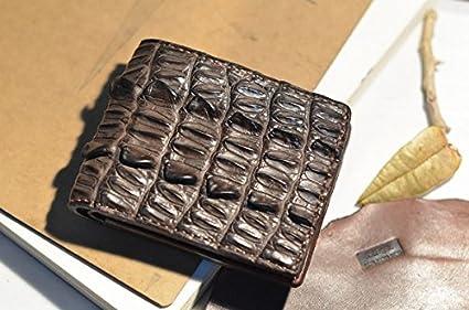 Breve bi-artesanales carteras de cuero de piel de cocodrilo de hombres y mujeres,