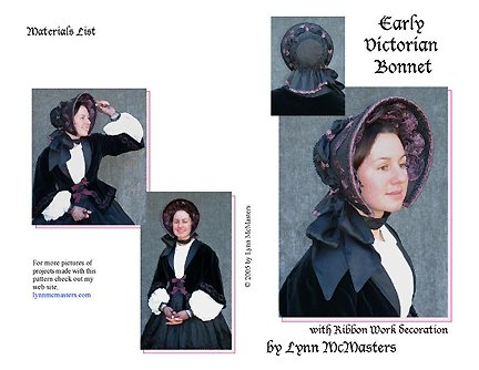 Guide to Victorian Civil War Costumes on a Budget Early Victorian Bonnet Pattern $13.95 AT vintagedancer.com