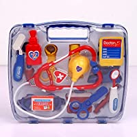 KIDS DOCTOR PLAY SET ROLE PLAY DRESS UP KIT 13 PCS FANCY DOCTORS CHILDREN PRETEND PLAYSET