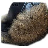 MH Bailment Omens Winter Hat Genuine Fox Fur Russian Skin Top Hats (One Size, Raccon Fur)