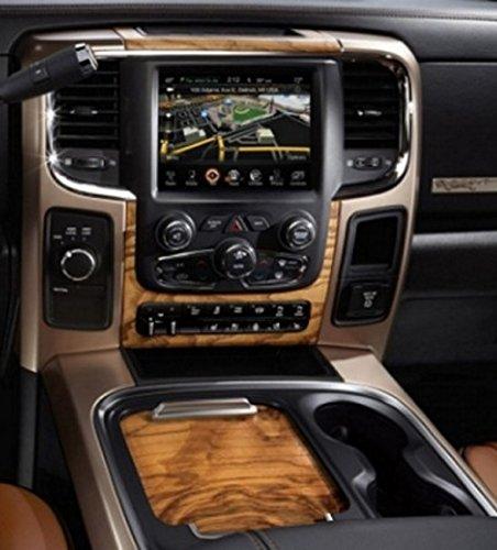 2013-2018 Dodge Ram 1500 OEM Laramie/Longhorn Model Floor Console Upgrade with Light Woodgrain Sliding ()