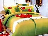 Le Vele Girls Teen Bedroom Bedding Floral Twin Duvet Covet Set LE06T
