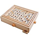 Topwon Wood Labyrinth Table Maze/Balance Board Table Maze Solitaire Game for Kids and Adults - Large - Great Gift!
