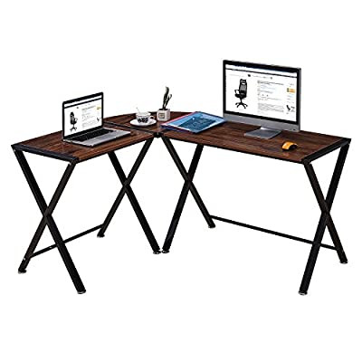 GreenForest L-Shape Corner Computer Office Desk PC Laptop Table Workstation Home Office 3-Piece by Greenworlds