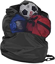 Asixx Mesh Equipment Bag or Water-Resistant Gym Bag, Quality Drawstring Backpack for Schools,Training Institut