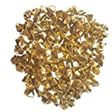 AiFanS 1LB(Approx 755Pcs) Plastic Metallic Gold Nuggets for Table Scatter Decoration or Vase Filler