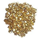 ElE&GANT 1LB(Approx 755Pcs) Plastic Metallic Gold Nuggets for Table Scatter Decoration or Vase Filler (Metallic Golden)