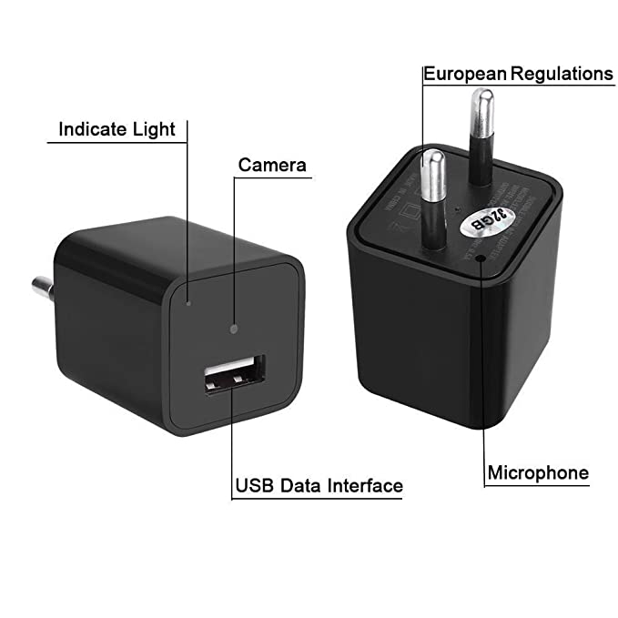 Cargador para cámara de seguridad con Full HD 1920 x 1080, cargador USB y memoria interna de 32 GB: Amazon.es: Electrónica