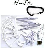 Hometalks® de Syma X5 X5c X5c-1 Quadcopter Set Completo Parte 4 * Motores Propulsores de Skid Landing Protectores de Motor Base + 1 Hometalks mosquetón