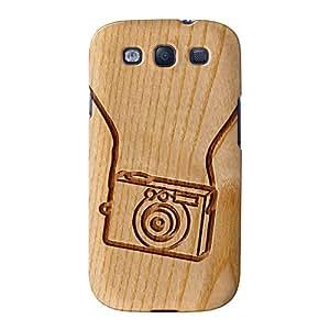 Tallada En Madera Efecto _ Vintage Cámara Full Wrap Case, de fijación–Carcasa para Samsung Galaxy S3Impreso en 3d de alta calidad de barbacoa