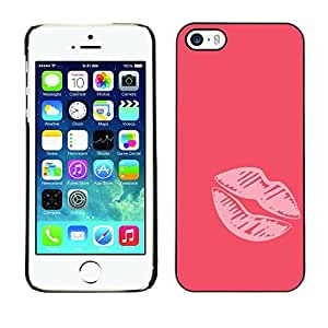 Plastic Shell Protective Case Cover || Apple iPhone 5 / 5S || Heart Painting Minimalist Love @XPTECH