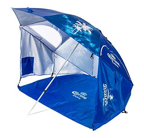 Corona Always Summer Beach Cabana Umbrella, Blue (Camping Chair Shade)