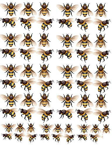 Yellow Honey Bubble Bees - 12180 - Ceramic Decal - Enamel Decal - Glass Decal - Waterslide Decal - 3 Different Size Sheet (images) to Choose from. Choose either Ceramic (Enamel) or Glass Fusing Decals