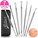 7PCS Pimple Popper Tool- Blackhead Comedone Extractor Professional Acne Removal Kit - Treatment for Pimples, Blemish, Whitehead Popping, Zit Removing, Forehead and Nose