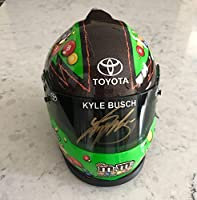 2016 Kyle Busch M&M's Crispy Toyota NASCAR Signed 1/3 Scale Mini Helmet - Autographed NASCAR Helmets from Sports Memorabilia