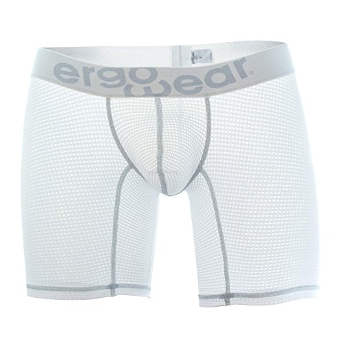 ErgoWear EW0463 MAX Mesh Boxer Briefs Color White Size XL