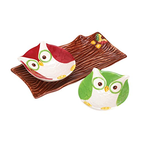 Koehler Home decor Holiday Hoot Snack Plates