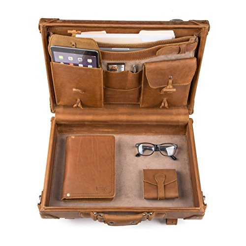 Saddleback Leather Hardside Briefcase - 100% Full Grain, Hard Shell Executive Leather Briefcase with 100 Year Warranty. by Saddleback Leather Co.