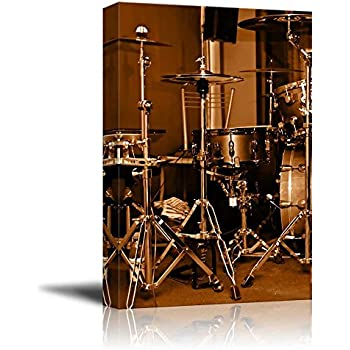amazon canvas prints wall art drum kit drum set with gilded