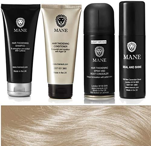 Mane Hair Thickening Spray Travel Pack with Seal and Shine 100 ml ...