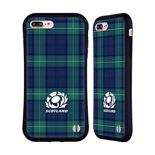 (Official Scotland Rugby Tartans 2018/19 Logo Hybrid Case for iPhone 7 Plus/iPhone 8)