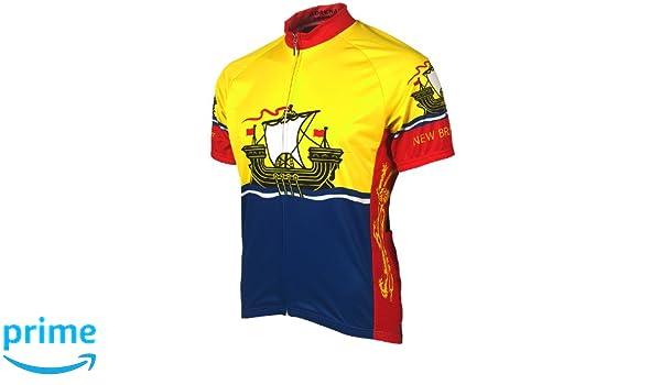 Amazon.com   Adrenaline Promotions Canadian Provinces New Brunswick Cycling  Jersey   Sports   Outdoors e700c38d9