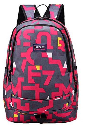 dos à Zippers de FBUFBD181093 Rose Daypack Sacs AllhqFashion Femme Daypacks Mode randonnée Dacron z8aqpT