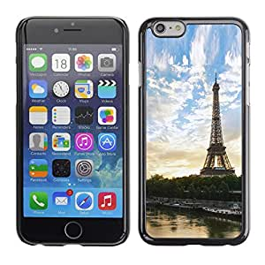 LECELL--Funda protectora / Cubierta / Piel For iPhone 6 -- Paris Tour Eiffel --