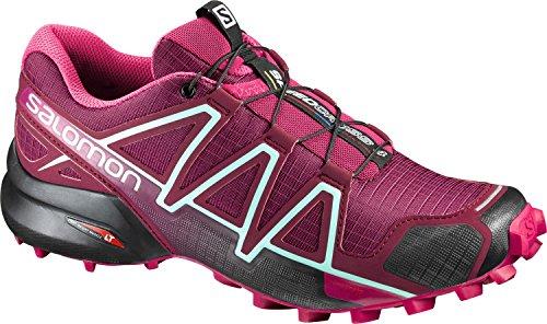 SalomonSpeedcross 4 Scarpe da trail running, in materiale sintetico/tessuto, (rosso tibetano), 40 2/3
