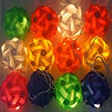 A2Z, 10Feet Multicolor 12Balls Fairy LED Series For Home Decoration Diwali Lights (White - Kandil 12Balls String)
