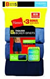 Hanes Red Label Men's Tagless Comfortsoft Waistband Boxer Briefs (5-Pack + 3 Free)