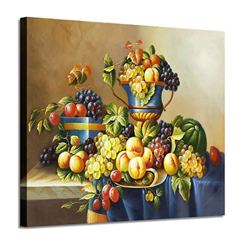 Fruit Artwork Vintage Wall Art: Fresh Pictures Graphic Art Print on Canvas for Kitchen & Dining Room (24