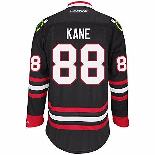 93f60d8dc66 Chicago Blackhawks NHL Patrick Kane  88 Black Premier Jersey Stitched Reebok  (XX-Large)