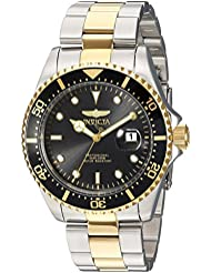Invicta Mens Pro Diver Quartz Stainless Steel Diving Watch, Color:Two Tone (Model: 23229)
