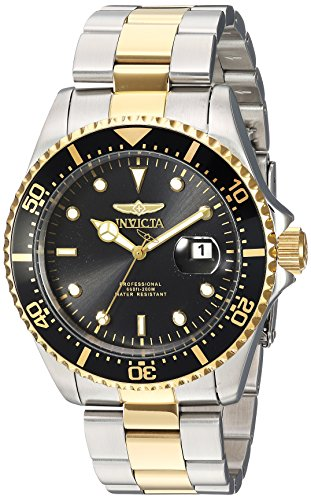 Invicta Men's 'Pro Diver' Quartz Stainless Steel Diving Watch, Color:Two Tone (Model: 23229) by Invicta