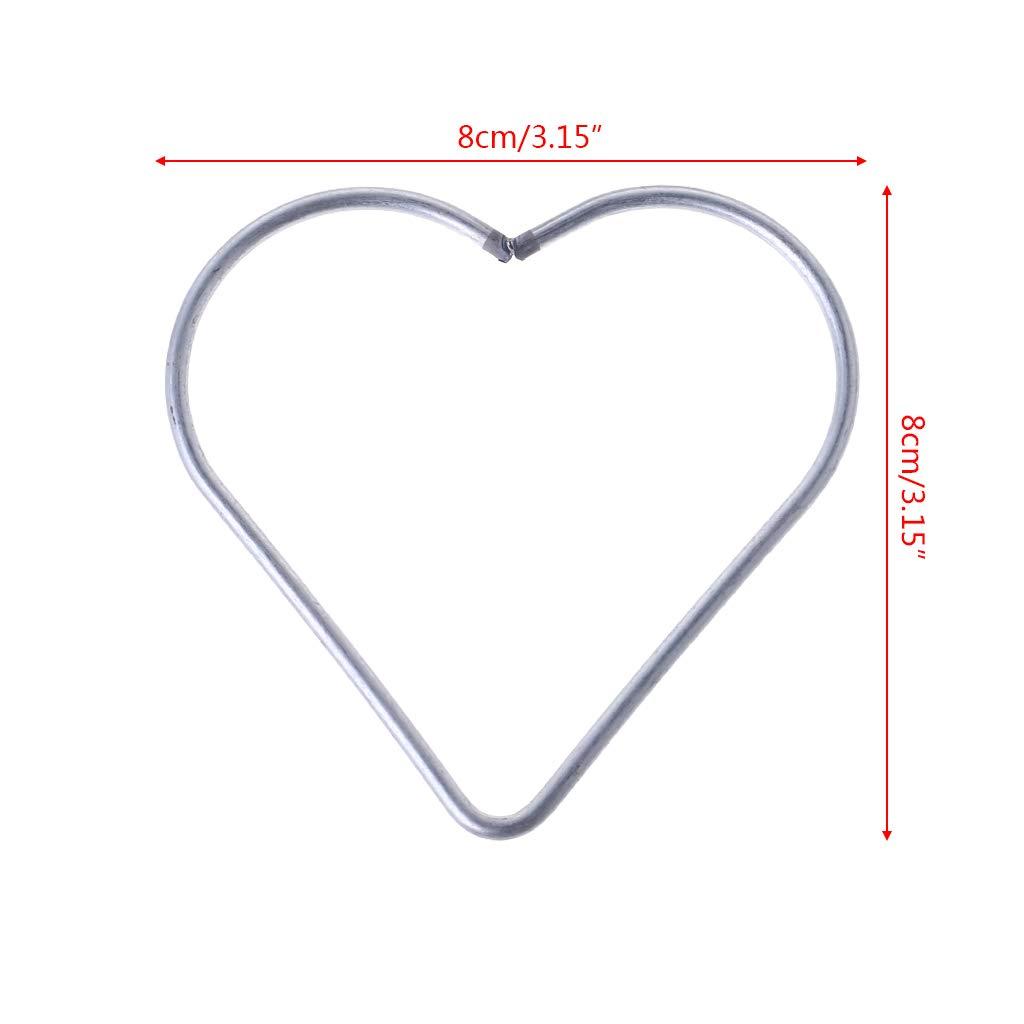 BYNNIX Heart Metal Dream Catcher Dreamcatcher Ring Macrame Craft Hoop DIY Accessories (10cm)